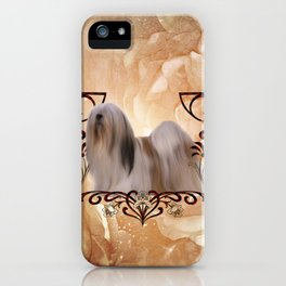 Beautiful lhasa apso , cute dog iPhone Case