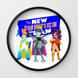 The New Justice Team Wall Clock