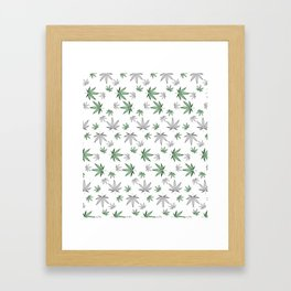 Weed Illustrated Framed Art Print