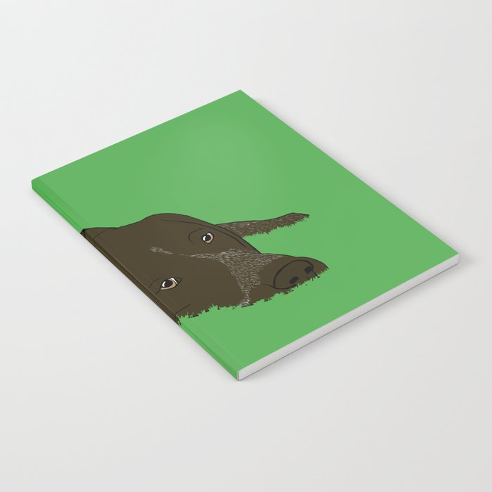 Gunner the German shorthaired pointer Notebook