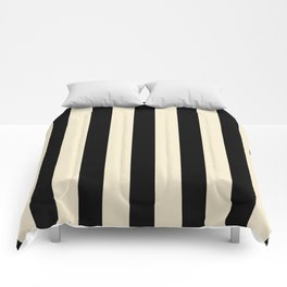 Bold Strips (Black & Nude) Comforters