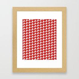 World heart day Framed Art Print
