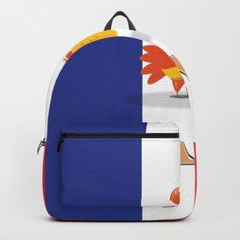 France cockerel travel poster Backpack