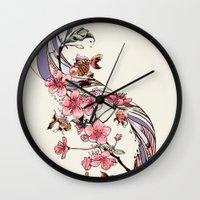 blossom Wall Clocks featuring Blossom by Huebucket