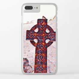 Celtic cross Clear iPhone Case