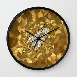 POLYNOID Rocket / Gold Edition Wall Clock
