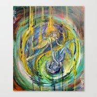 ying yang Canvas Prints featuring Ying&Yang by Aliza Bejarano