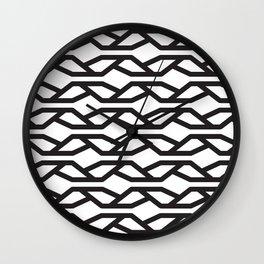 K Pattern Wall Clock