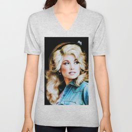 young dolly original parton colour 2020 Unisex V-Neck