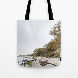 Along The Cliff On Baltic Sea Tote Bag