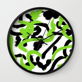 Color Madness 3 (Green) Wall Clock