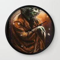 yoda Wall Clocks featuring Yoda by calibos