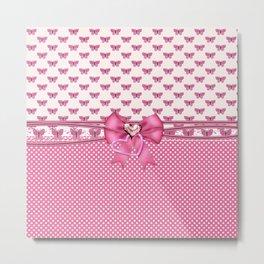 Dreamy Pink Butterflies Metal Print