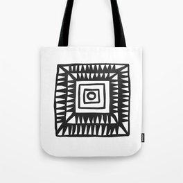 Tribal Print B&W- 02 Tote Bag
