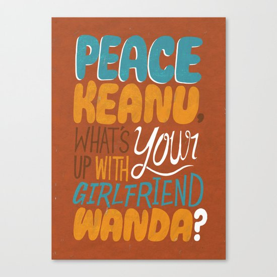 Peace Keanu Canvas Print