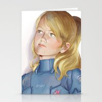 samus Stationery Cards featuring Samus by Sheharzad