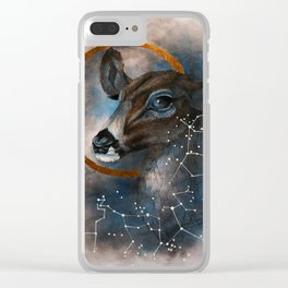 Celtic, Deer, Constellation Clear iPhone Case