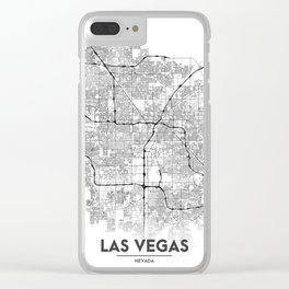 Minimal City Maps - Map Of Las Vegas, Nevada, United States Clear iPhone Case