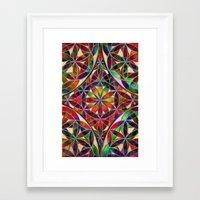 flower of life Framed Art Prints featuring Flower of Life variation by Klara Acel