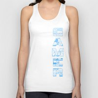 gamer Tank Tops featuring Gamer  by Angela Felan
