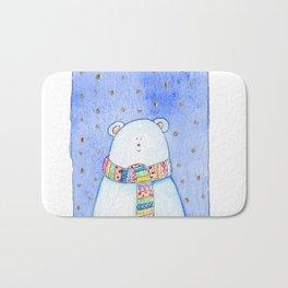 White bear Bath Mat