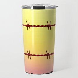 Mexico Border Barbe Wire Fence Travel Mug