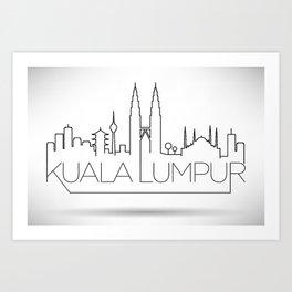 Minimal Kuala Lumpur Skyline Design Art Print