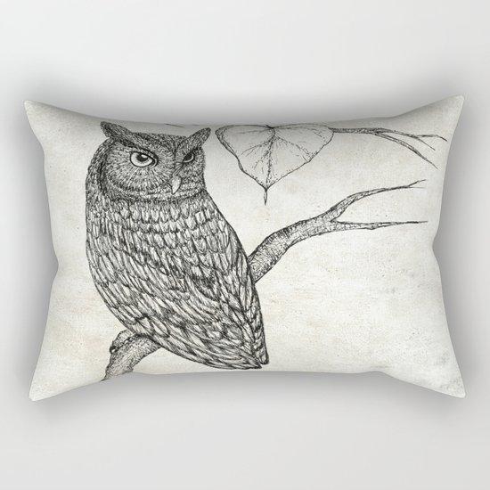Great Horned Owl Rectangular Pillow