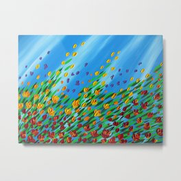 poppies in the wind and sun Metal Print