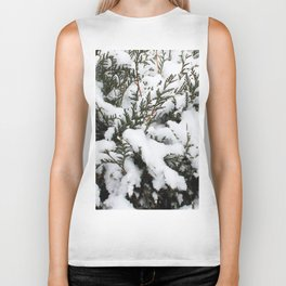 Cedar in the Snow Biker Tank