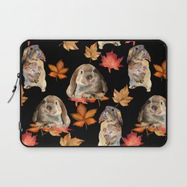 Rabbits and autumn leaves Laptop Sleeve