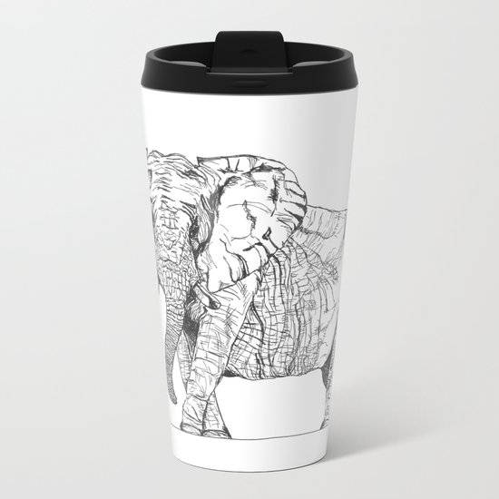 two ways to see one elephant Metal Travel Mug