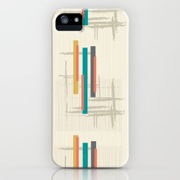 "Mid Century Modern ""Bar"" iPhone Case"