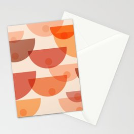 Mid Century Boobs Abstract Stationery Cards