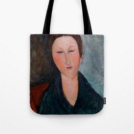"""Amedeo Modigliani """"Buste de jeune fille (Mademoiselle Marthe)"""" Tote Bag"""
