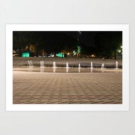City Fountain Water Park Art Print