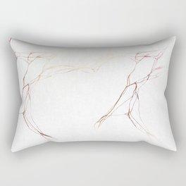 Rose Gold White Marble Pattern Rectangular Pillow