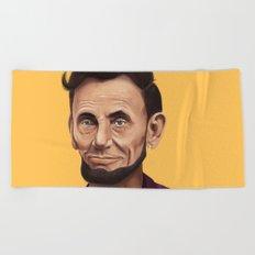 Hipstory -  Abraham Lincoln Beach Towel