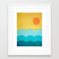 sunrise Framed Art Prints featuring Sunrise by sinonelineman