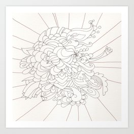 Burst Forth Art Print