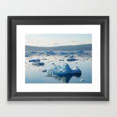 Iceberg Bay Framed Art Print