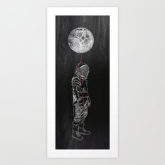 Moon Balloon 02 Art Print