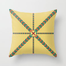 X Marks the Center Throw Pillow