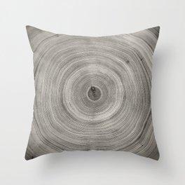 Sepia Tree Rings Art Throw Pillow