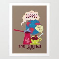 First Coffee Art Print
