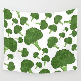 I Love Broccoli Wall Tapestry