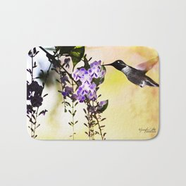 Humming Bird  Bath Mat