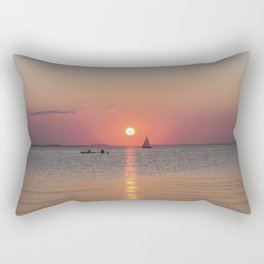 Sailboat Sunset Rectangular Pillow
