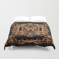 givenchy Duvet Covers featuring Fancy Givenchy by Goldflakes