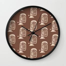 Tuba Pattern Brown and beige Wall Clock
